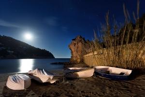 Mond über Cala san Vicente  (1)