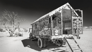 Salvation Mountain, Bible John's Caravan.jpg